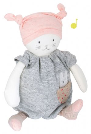 Moulin Roty - Les Petits Dodos - Peluche Musicale Moon le Chat